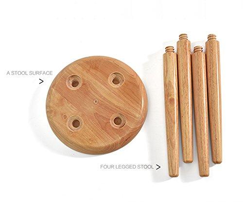 Nwn poggiapiedi in legno massello nordic staccabile sedia da pranzo