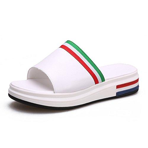 Estate Sandali Sandali da donna Primavera Estate da Uomo Vestito Casual Flat Heel Flat Black White Colore / formato facoltativo Bianca