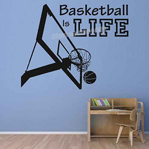 all Ist Leben Sport Quote Wandaufkleber Basketball Hoop Sport Aufkleber Kindergarten Jugendliche Jungen Room ArtWohnkulturPoster56x46 cm ()