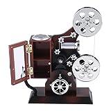 MagiDeal Retro-Filmprojektor Modell Spieluhr Musikbox Uhrwerk Spielzeug für Büro Schlafzimmer Ornament