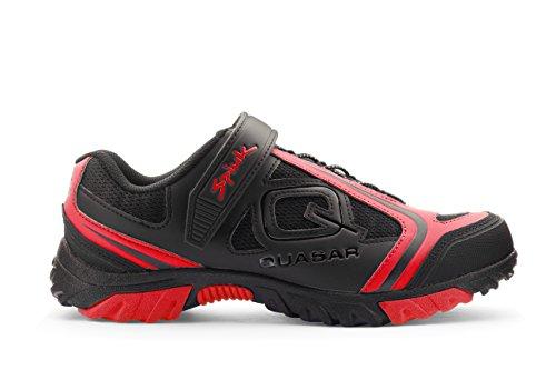 Spiuk Quasar Mtb Paire de chaussures de sport pour adulte Unisexe noir/rouge