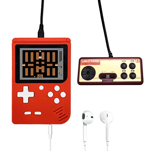 Dapeu Game Accessory Handheld-Spielekonsole 3.0 Zoll Retro FC TV Game 400 Spiele Portable Game Players