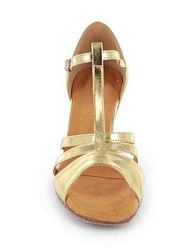 ShangYi Chaussures de danse(Noir / Rouge / Argent / Or) -Personnalisables-Talon Personnalisé-Similicuir-Latine Silver