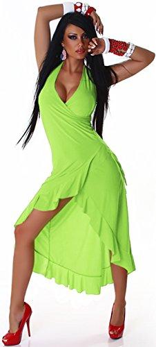 Jela London -  Vestito  - halterneck - Basic - Donna Verde chiaro
