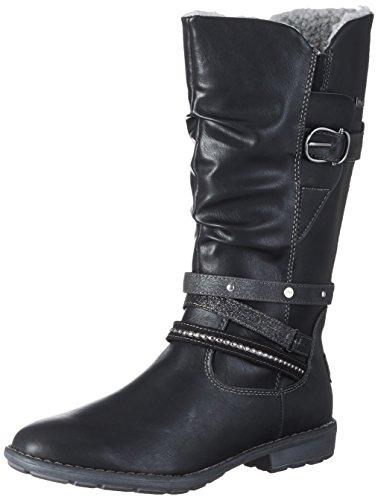 s.Oliver Mädchen 56416 Stiefel, Schwarz (Black), 37 (Schwarz Stiefel Mädchen)