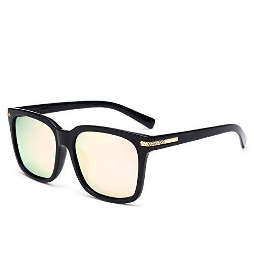 Wkaijc Der Zustrom Von Menschen Männer Und Frauen Quadratisch Polarisiert UV Mode Persönlichkeit Kreativität Sonnenbrillen,E