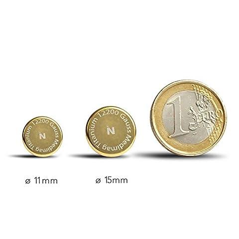 Box Magneten Schmerzen zu lindern - Auris Medimag Titanium Durchmesser 11 und 15 mm
