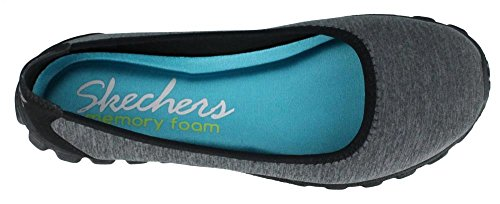 Skechers Ez Flex 2 Roll With E Womens Slip On scarpe da tennis piane di balletto Black