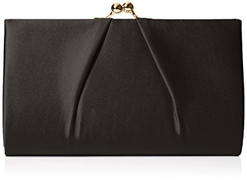 Swanky Swans - Mira Satin Classic Frame Bag, Pochette da giorno Donna Nero (Black)