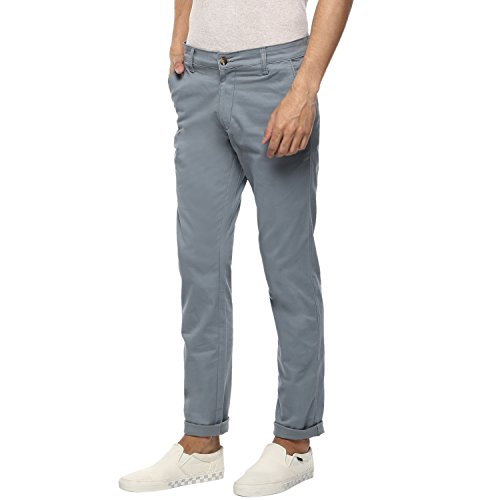 Urbano Fashion Men's Light Blue Slim Fit Stretchable Casual Chinos (chino-lblue-30-fba)