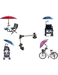LL-Golf ® Schirmhalter für Fahrrad / Rollstuhl / Kinderwagen / Angeln / Golf Trolley für RUNDE Elemente bis 2,5 cm Durchmesser