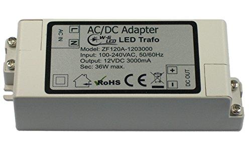 LED Trafo|12V DC|36W max|Transformator|Netzteil|3A