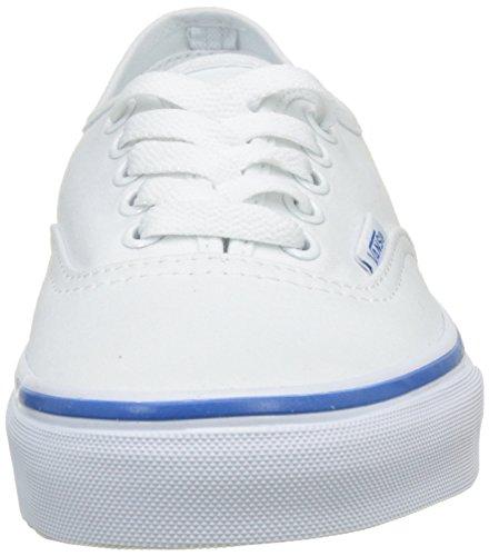 Vans Ua Authentic, Sneakers Basses Femme Blanc (Rainbow Tape True White/blue)