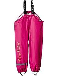 Koster kozi kidz pantalon imperméable pour fille Rose Pink/Orange
