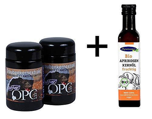 Robert Franz - OPC133 2 Gläser (2 x 60 Kapseln) und GRATIS Ayursana - Aprikosenkernöl -