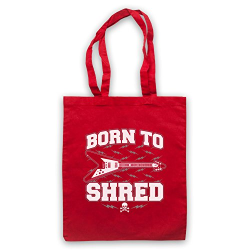 Born To Shred Guitar Love Slogan Umhangetaschen Rot