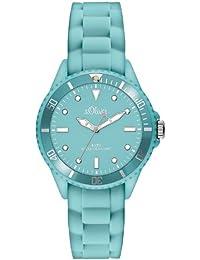 s.Oliver Damen-Armbanduhr XS Analog Quarz Silikon SO-2750-PQ