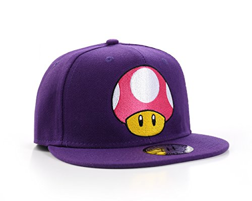 Underground Kulture Super Mario Champignon Casquette de Baseball Réglable (Mushroom Snapback)