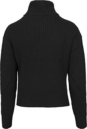 Urban Classics Damen Rollkragenpullover Ladies Hilo Turtleneck Sweater Black