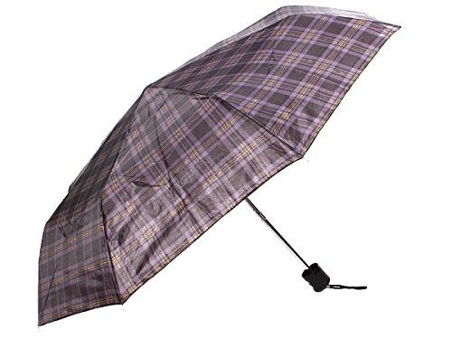 Alsino Regenschirm Mini Schirm Taschenschirm mit Hülle, Variante wählen:61/1947 braun kariert