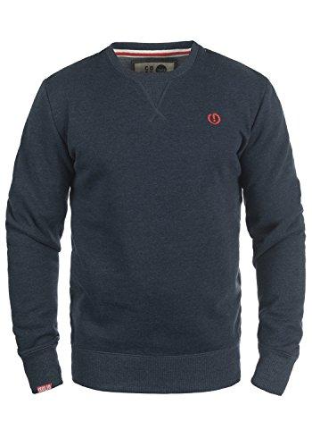!Solid Benn O-Neck Herren Sweatshirt Pullover Pulli mit Rundhalsausschnitt, Größe:XL, Farbe:Insignia Blue Melange (8991) -