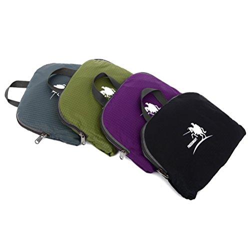 Free Knight Nuovo stile Outdoor Zaino impermeabile pieghevole arrampicata, escursionismo borsa casual 35L, Black Purple