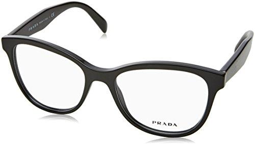 Prada - PRADA PR 12TV, Schmetterling, Acetat, Damenbrillen, BLACK(1AB-1O1), 53/17/140