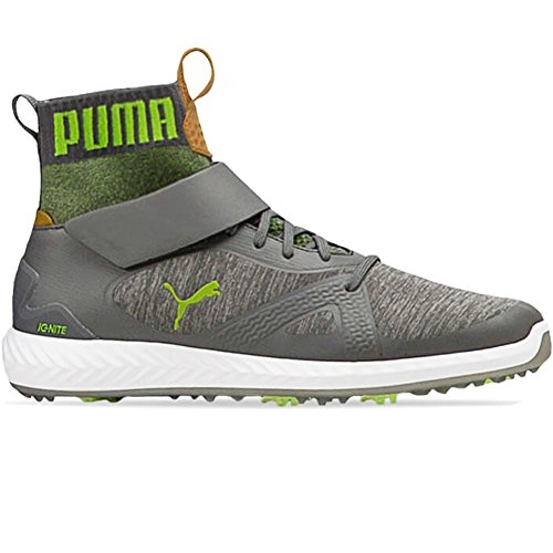 PUMA Ignite PWRAdapt Golf Shoes Quiet Shade Acid Lime 10 Medium