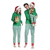 6d79b7c97b VICGREY Famiglia Natale Pigiama di Corrispondenza Set di Vestiti - Natale  Outfit Cotone T-Shirt