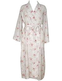 The Irish Linen Store en coton pour femme Katie Peignoir motif floral rose