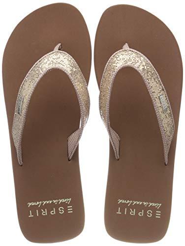 ESPRIT Damen Glitter Thongs Pantoletten, Cream Beige 295, 40 EU Damen Schuhe Glitter