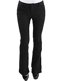 91fcf87784c8d6 Damen Business Hose Stretch Schlaghose Stoff Bootcut Elegant Classic 3  Farben