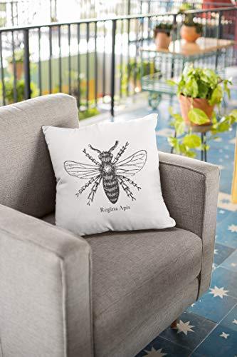 Andrea1Oliver Bee Regina Apis Queen Bee Almohada inspiradora Almohada Regalo Feminista Confianza Divertido diseño de Abeja de Miel Femenina