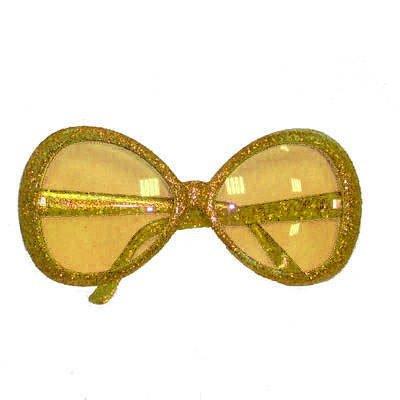 Star-Brille, Glitter-Gold (Brille Star)