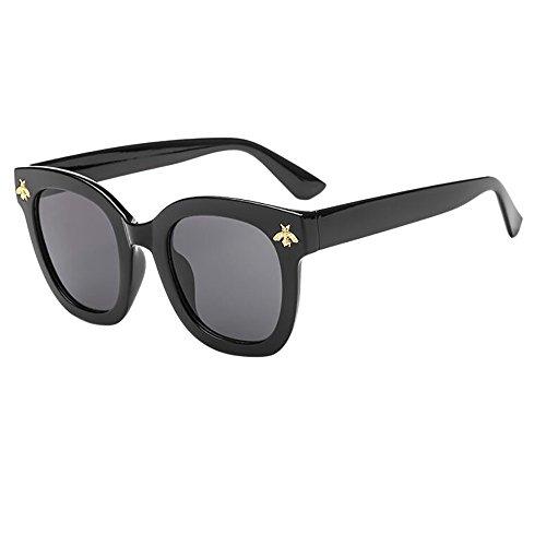 iCerber sonnenbrillen Elegant Niedlichen Charmant Frauen-Mann-Weinlese-Bienen-Sonnenbrille-Retro- große Rahmen-Brillen-Mode UV 400 ❀❀2019 Neu❀❀(LMehrfarbig)