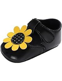 Toddler Girl Sunflower Flower Newborn Anti-Slip Baby Hook Shoes (0-6 Months eb249d088aad