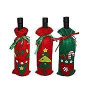 ✅ Habillez eau, vin et de champagne avec les couleurs inimitables du robe de père Noël et heureuse la votre table. Décorez votre table avec le copribottiglia de Noël. ✅ les fêtes de Noël sont une occasion pour passer des moments de bonheur avec les ...