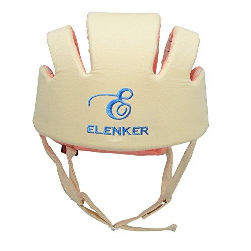ELENKER Babyhelm Kopfschutzmütze gegen Stöße für Kleinkind beim Lauflernen verstellbar Safety Helmet Beige