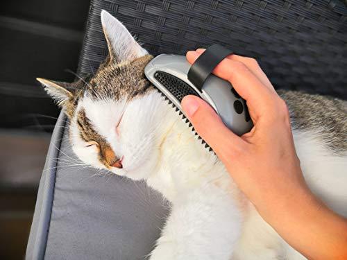 FURminator Striegel für Hunde, Fellpflege Hundebürste zum Ausbürsten von Staubundlosem Haar für gesundes glänzendes Fell, mit Gummi Noppen und ergonisch geformtem Griff - 6