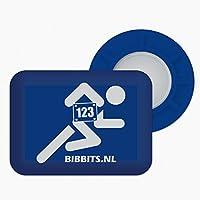 BibBits - Magnetische Startnummernhalter Blau
