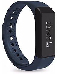 ELEGIANT I5 Plus Bluetooth4.0 Montre Bracelet Connectée Podomètre Réveil Photographie Intelligent Rappel d'information Facebook Twitter Whatsapp Compatible avec Iphone 6s 6 5s 5 Samsung Note Galxy HTC one Sony Xperia etc
