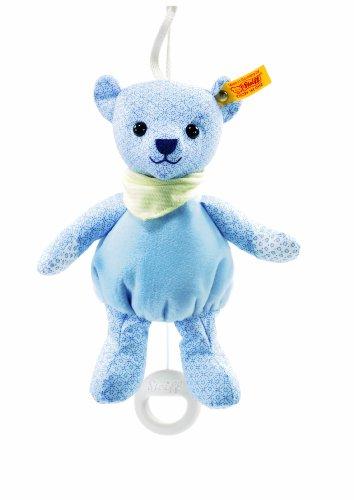 STEIFF 238147 - Teddybär Junge Spieluhr 20 cm, hellblau