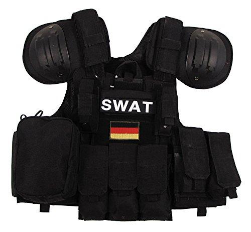 """Weste, """"Combat"""" diverse Taschen, schwarz, größenverstellbar"""