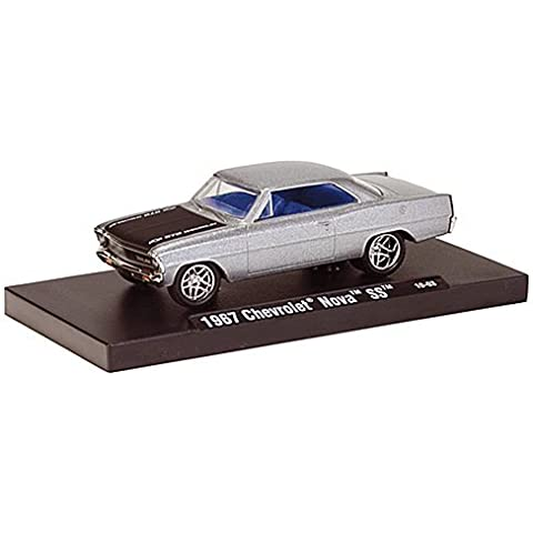 Chevrolet Nova SS, met.-silver grey , 1967, Model Car, Ready-made, M2 Machines 1:64 by Chevrolet