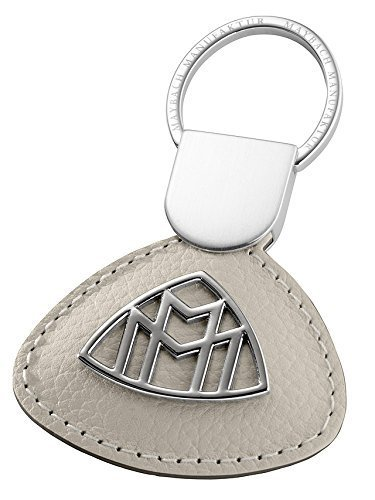 Mercedes-Maybach, Schlüsselanhänger, Kalbsleder, Mercedes-Benz (Seidenbeige) (Kalbsleder-schlüsselanhänger)