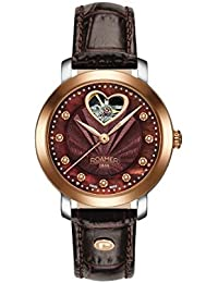 Roamer Women's Automatic Watch with Mother of Pearl Dial Analogue Display and Brown Leather Strap 556661 49 69 05