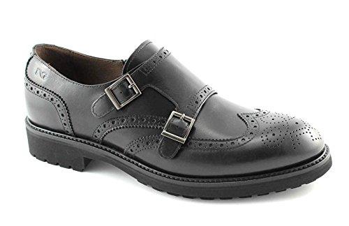 NOIR JARDINS hommes 3880 chaussures noires classiques boucles Anglais Nero