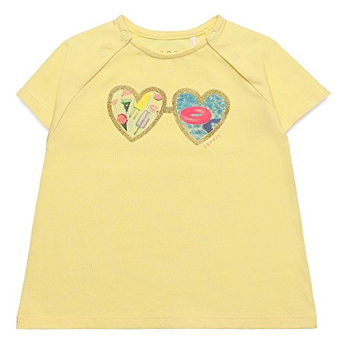 ESPRIT Baby - Mädchen T-Shirt TEE - SHIRT RJ10201, Einfarbig, Gr. 80, Gelb (pale Yellow 722) (Glitzer-baby-tee Mädchen)