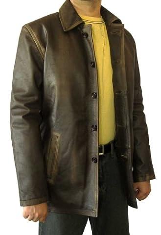 Supernatural braun Distressed Leder Jacke–Dean Winchester Coat & # x25ba, der am besten Verkäufer & # x25C4; Gr. xxl, Braun - (4x Superheld-kostüm)
