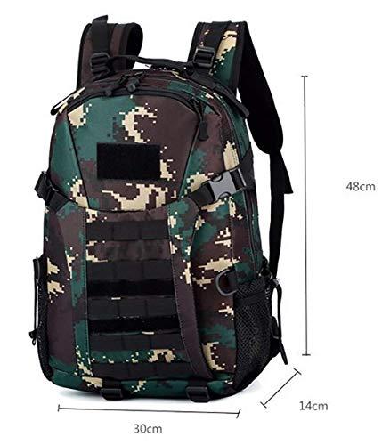 Zaino tattico assault 3 giorni zaino espandibile impermeabile molle traspirante, campeggio, escursionismo,armycamouflage